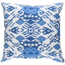 "Surya Phoebe Blue and White 18"" Square Indoor-Outdoor Pillow"