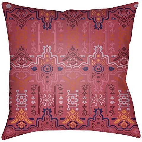 "Surya Yindi Garnet 18"" Square Indoor-Outdoor Pillow"