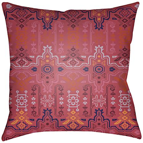 "Surya Yindi Garnet 18"" Square Decorative Pillow"