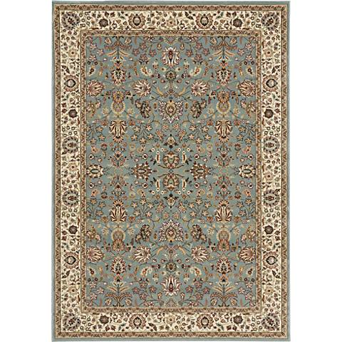 Nourison Antiquities ANT04 Slate Blue Area Rug