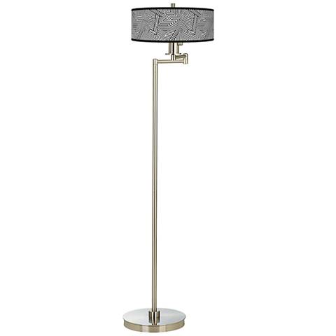 Labyrinth Giclee Energy Efficient Swing Arm Floor Lamp