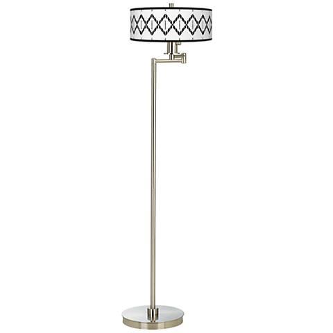 Paved Desert Giclee Energy Efficient Swing Arm Floor Lamp