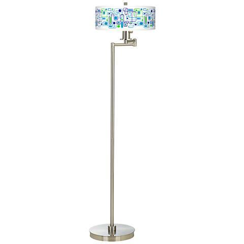 Racktrack Giclee Energy Efficient Swing Arm Floor Lamp