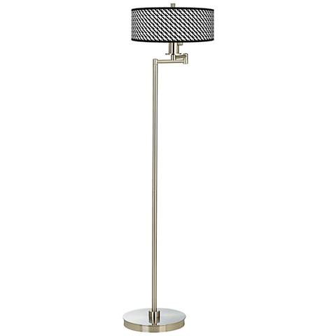Waves Giclee Energy Efficient Swing Arm Floor Lamp