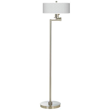 Diamonds Giclee Energy Efficient Swing Arm Floor Lamp