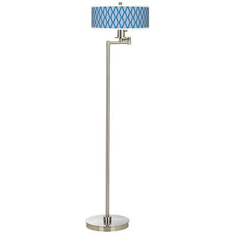 Bleu Matrix Giclee Energy Efficient Swing Arm Floor Lamp