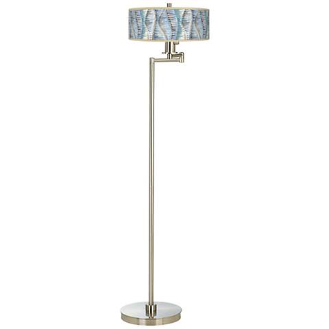 Siren Giclee Energy Efficient Swing Arm Floor Lamp
