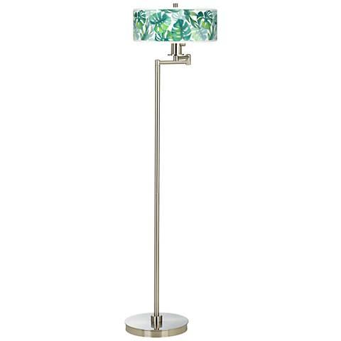 Tropica Giclee Energy Efficient Swing Arm Floor Lamp