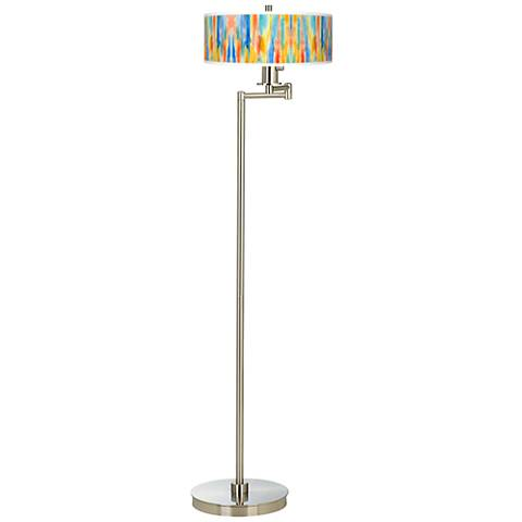 Tricolor Wash Giclee Energy Efficient Swing Arm Floor Lamp