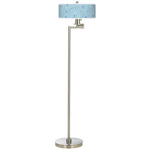 Circle Daze Giclee Energy Efficient Swing Arm Floor Lamp