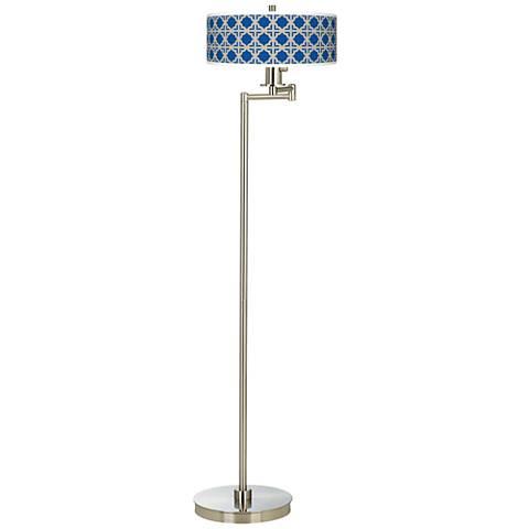 Four Corners Giclee Energy Efficient Swing Arm Floor Lamp