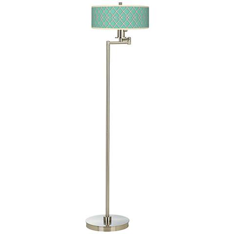 Crossings Giclee Energy Efficient Swing Arm Floor Lamp