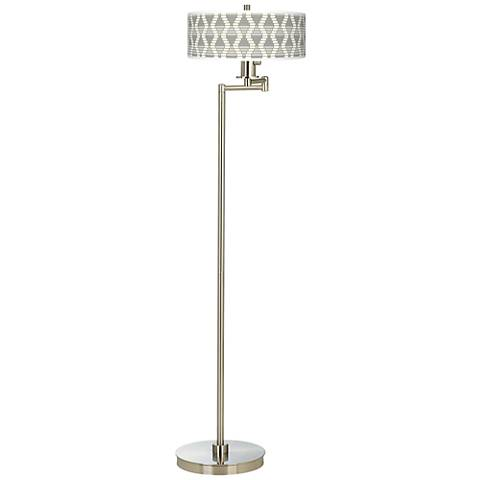 Stepping Out Giclee Energy Efficient Swing Arm Floor Lamp