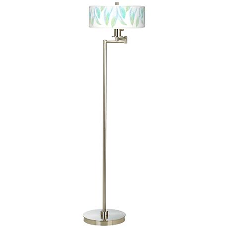 Light as a Feather Giclee Energy Efficient Swing Arm Floor Lamp