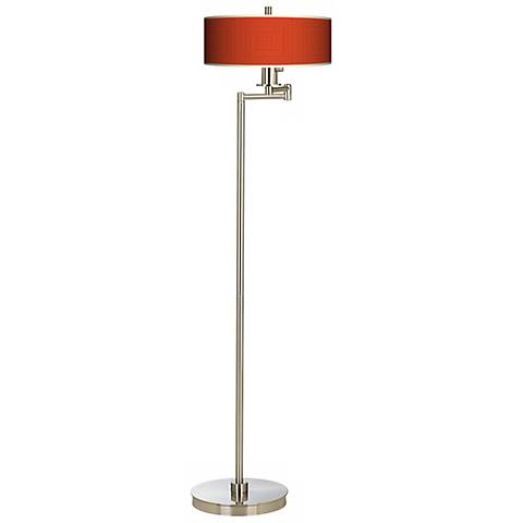 Stacy Garcia Crackled Square Coral Energy Efficient Floor Lamp