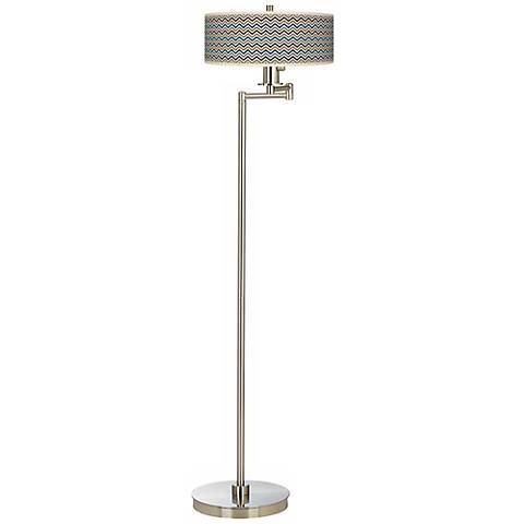 Zig Zag Energy Efficient Swing Arm Floor Lamp