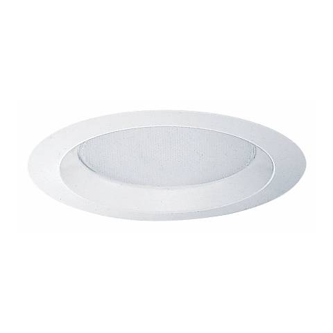 "Juno 6"" Line Voltage Albalite Lens Shower Recessed Trim"