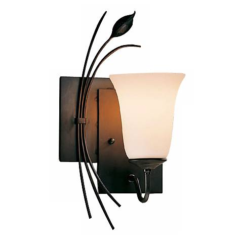 Hubbardton Forge Left Side Leaf and Stem Wall Sconce