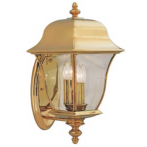 "Gladiator 20 1/2""H Polished Brass Outdoor Wall Lantern"