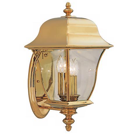 "Gladiator 20 1/2""H Polished Brass Outdoor Wall Lantern"