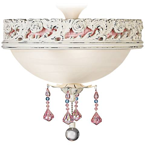 Pretty In Pink Pull Chain Ceiling Fan Light Kit