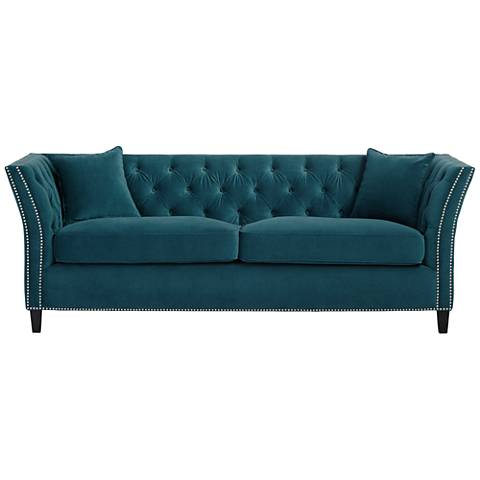Tessa Tufted 90 3 4 Wide French Sofa 2x200 Lamps Plus