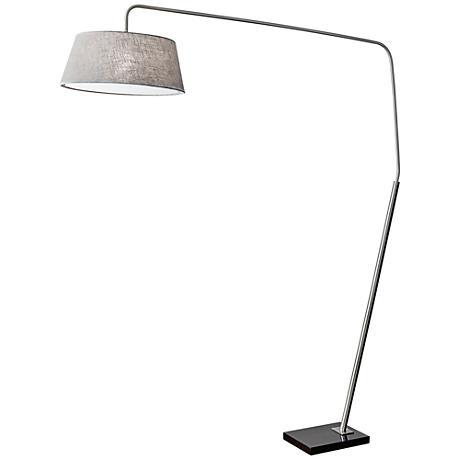 Ludlow Brushed Steel Arc Floor Lamp