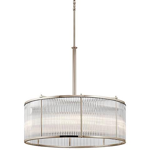 "Kichler Artina 32""W Polished Nickel 8-Light Round Pendant"