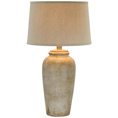 Lechee Sand Stone Table Lamp
