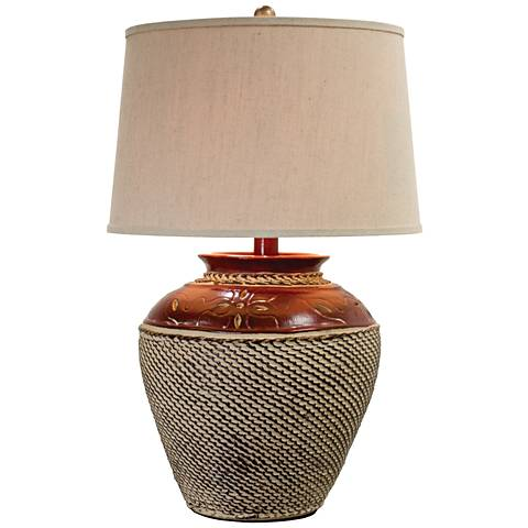 Jarosa Red Western Table Lamp