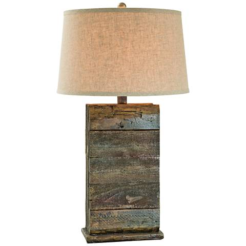 Kadoka Seal Blue Rock Table Lamp