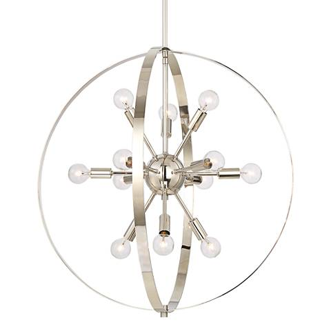 "Savoy House Marly 24 1/2"" Wide Nickel 12-Light Chandelier"