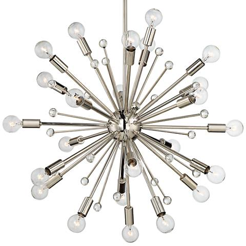 "Savoy House Galea 23""W Polished Nickel 24-Light Chandelier"