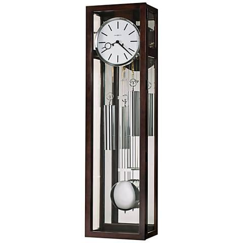 "Howard Miller Regis 50"" High Espresso Pendulum Wall Clock"