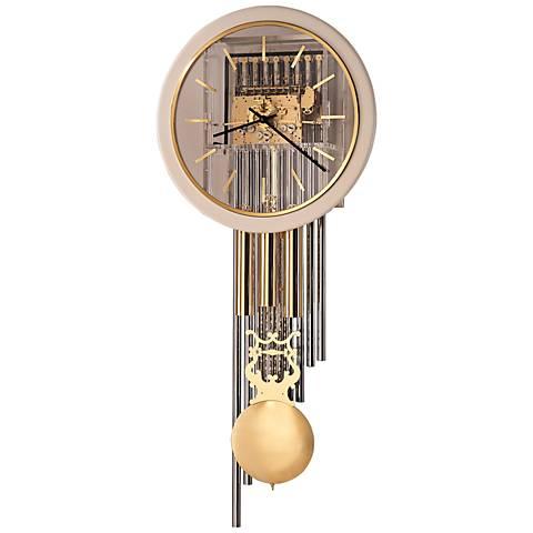 """Howard Miller Focal Point 65 1/4""""H Brass Wall Clock"""