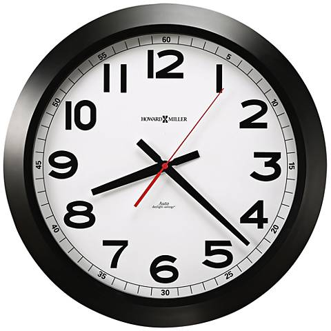 """Howard Miller Jacobson 15 3/4""""W Black and White Clock"""