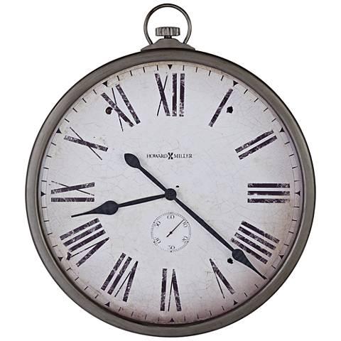 "Howard Miller Gallery Pocket Watch 35""H Wall Clock"