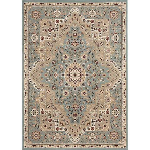 Nourison Antiquities ANT06 Slate Blue Area Rug