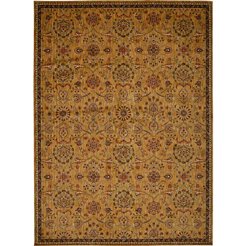 Kathy Ireland Ancient Times BAB01 Gold Area Rug