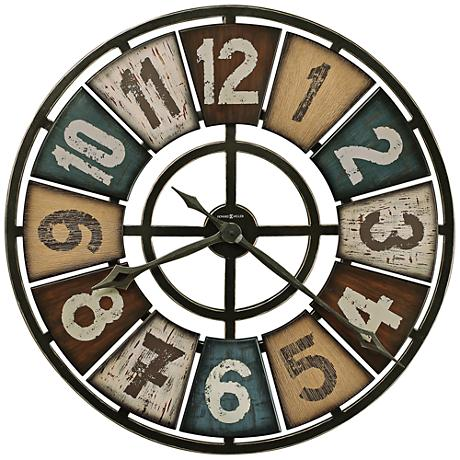 "Howard Miller Prairie Ridge 32"" Round Multicolor Wall Clock"