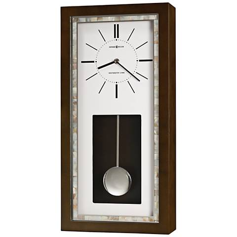 "Howard Miller Holden 22""H Espresso Pendulum Wall Clock"