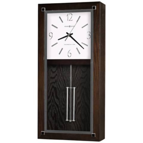 Howard Miller Reese 21 H Black Coffee Pendulum Wall Clock 13e11 Lamps Plus