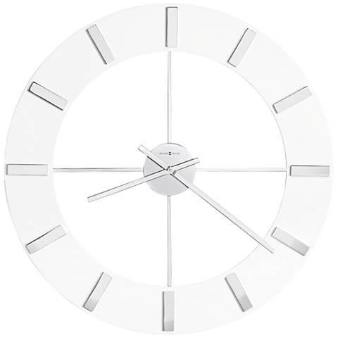 "Howard Miller Pearl 30"" Round High-Gloss White Wall Clock"