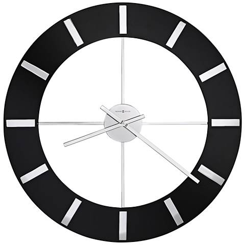 "Howard Miller Onyx 30"" Round High-Gloss Black Wall Clock"