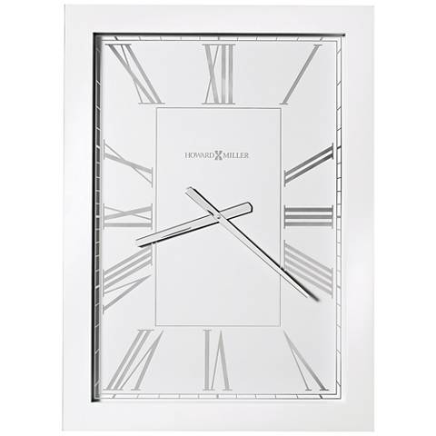 "Howard Miller Milo 29 1/2"" High White High-Gloss Wall Clock"