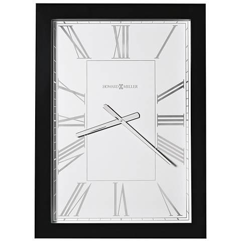 "Howard Miller Milo 29 1/2"" High Black High-Gloss Wall Clock"