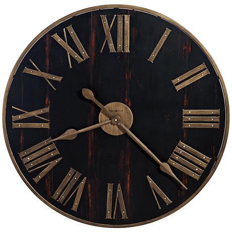 """Howard Miller Murray Grove 31""""W Antique Brass Wall Clock"""