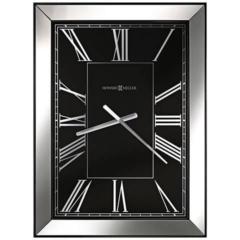 "Howard Miller Ceara 30 3/4"" High Gloss Black Wall Clock"
