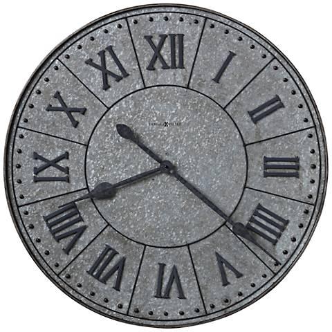 "Howard Miller Manzine 32""H Ancient Charcoal Gray Wall Clock"