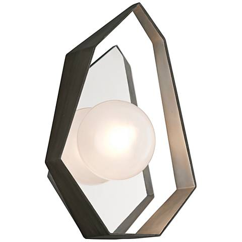 """Origami 14 1/2""""High Graphite with Silver LED Wall Sconce"""